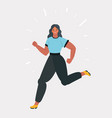 running woman on white background vector image vector image