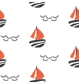 Sailboat seamless kid pattern in vector image vector image