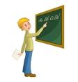 Schoolboy at blackboard vector image vector image