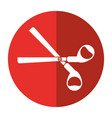scissors tool school icon shadow vector image vector image