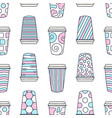 seamless pattern of paper texture cups for coffee vector image vector image