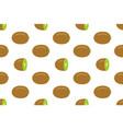 seamless pattern with kiwi fruit vector image vector image