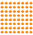 seamless pattern with pumpkins orange vector image