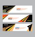 set banner design for web banner brochure vector image vector image