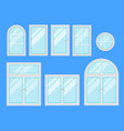 set of windows with different design of frames vector image