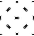 striped arrow pattern seamless black vector image vector image