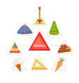 triangular objects for children vector image