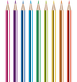 vector set of shiny colored pencils vector image vector image