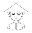 vietnamesehuman race single icon in outline style vector image vector image