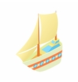 Yacht icon cartoon style vector image vector image