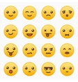 Yellow emoticons set vector image vector image