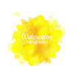yellow watercolor abstract hand painted vector image vector image