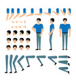 young man creation kit - guy in t-shirt and jeans vector image vector image
