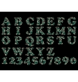 ALPHABET MILITARY GREEN vector image