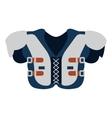 protection uniform body football american vector image