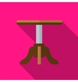 Stool flat icon vector image