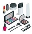 Make up Hand drawn cosmetics set Nail polish vector image