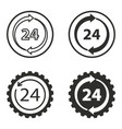 24 hour service icons set vector image vector image