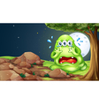 A monster crying near the rocks vector image vector image