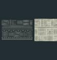 africa tribal art black white seamless pattern set vector image vector image