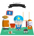 american football kid character vector image vector image