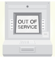 ATM machine is out of service isolated vector image vector image