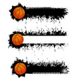 basketball ball with grunge strokes icons vector image