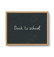 Blackboard in a wooden frame vector image vector image