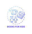 books for kids concept icon vector image
