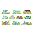 building icons real estate houses and cottages vector image vector image