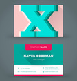 Business card design template background vector image vector image