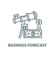business forecast line icon linear concept vector image vector image