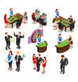 casino isometric decorative icons vector image vector image