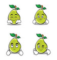character of pear cartoon set vector image vector image