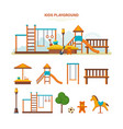 children s entertainment playground benches vector image vector image