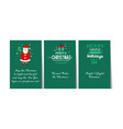 christmas and happy new year green greeting cards vector image