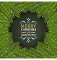 christmas and new year card with coniferous vector image