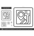 city map line icon vector image vector image