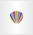 colorful seashell logo icon symbol vector image vector image
