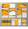 corporate set in style material design vector image vector image