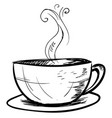 cup coffee sketch on white background vector image vector image