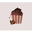cupcakes desserts design delicious vector image
