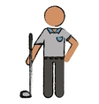 drawing golf player uniform vector image
