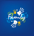 family icon in the form of hands vector image vector image
