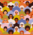 female diverse faces different ethnicity vector image vector image