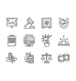 Finance black line icons set vector image vector image
