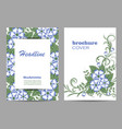 floral brochure cover design beautiful floral vector image vector image