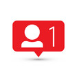 Follower notification social media icon user user