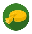 French hard cheese icon in flat style isolated on vector image