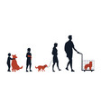 friendship between animals and people group of vector image vector image